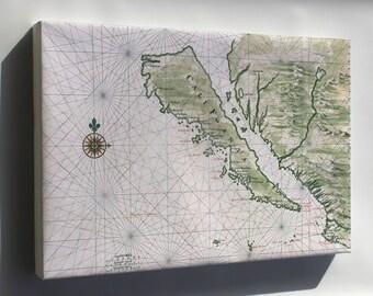 Canvas 24x36; California Island Map Of California As An Island C1650 By Johannes Vingboons