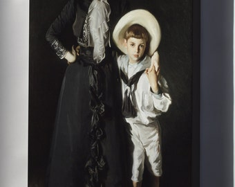 Canvas 16x24; John Singer Sargent - Portrait Of Mrs. Edward L. Davis And Her Son, Livingston Davis #031715
