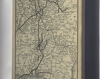 Canvas 16x24; 1893 Poor'S Louisville, New Albany And Chicago Railway
