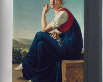 Canvas 16x24; Portrait Of Heinrike Dannecker Christian Gottlieb Schick