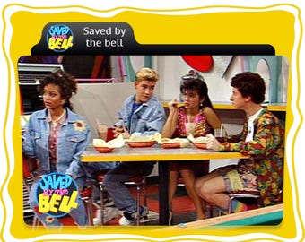 Saved by The Bell Custom Image T*shirt