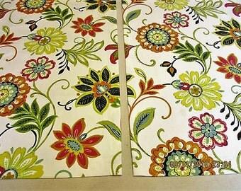 Floral Door Panels Custom Foyer Rod Pocket Front Door Entry Door French Doors
