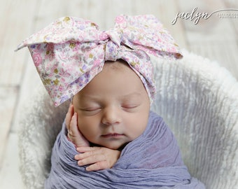 BLUSH BLOOM Gorgeous Wrap- headwrap; fabric head wrap; floral head wrap; boho; newborn headband; baby headband; toddler headband