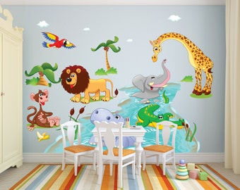 Animal Wall Decal Etsy - Nursery wall decals jungle