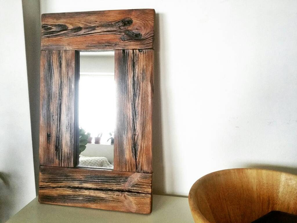 Bathroom Mirrors Wood Frame rustic wood mirror small mirror wood frame mirror wooden
