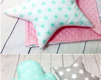 Star Pillow,  Star Shaped Pillow,Star Cushion, Nursery Star Decor, Kids Pillow, Nursery Decor,Kids Room Decor,Toddlers Cushion,Made to Order