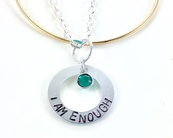 ... Addiction recovery, I am enough jewelry, You are enough jewelry
