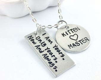 Kitten bdsm kitten, Master and slave, Sir daddy Bdsm owned, Property of Bdsm jewlery, Daddy dom submissive necklace, Dominatrix