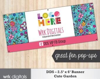 Dot Dot Smile Banner, 2.5'x6' Banner, Cute Garden Design, Pop-Up Sign, Boutique Signage