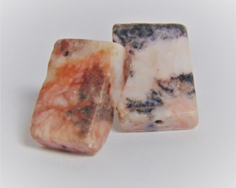 Pink Granite Stud Earrings