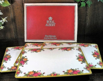 Immaculate ROYAL ALBERT Old Country Roses Table Mat Set