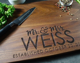 Personalized cutting board 60, Engraved cutting board,Personalized wedding gift,wedding gift for couples, housewarming gift, engagement gift
