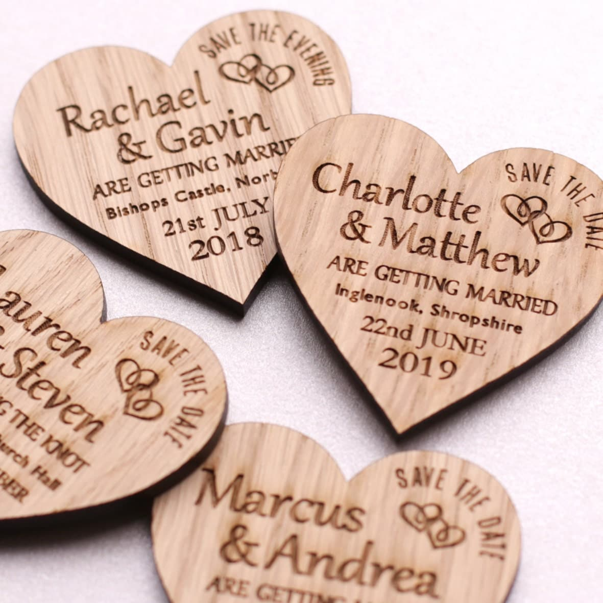 Wedding Save The Date Magnets: Save The Date Magnet Rustic Heart Wooden Wedding Magnet