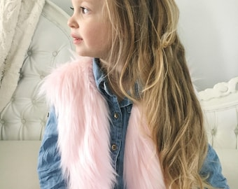 Faux Fur Vests for Toddler Girls 18mos-5T