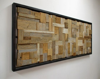 SALVAGE I // mosaic reclaimed wood art