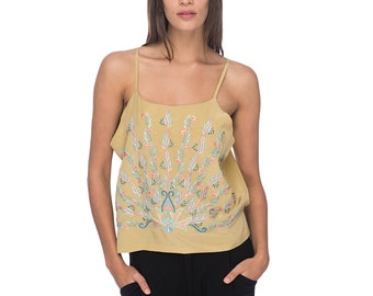 SCT017 - Hand Embroidered Silk Tank Top