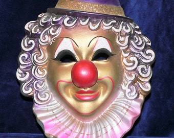 Venetian Clown Mask Hand Painted Ceremic Italy Venice