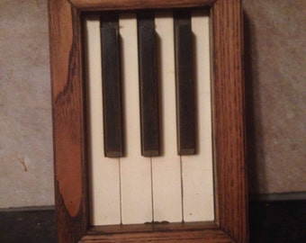 Framed Piano Keys, Piano key picture, piano keys