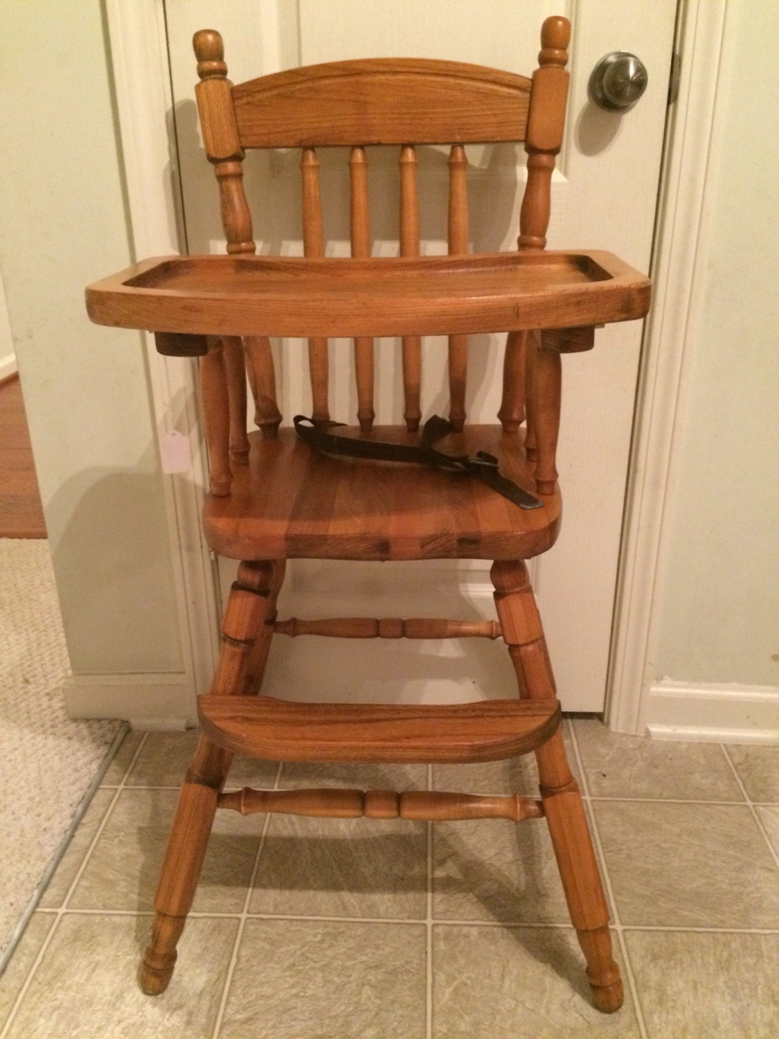 Antique Wooden Chairs ~ Vintage wooden high chair jenny lind antique by thekristkorner