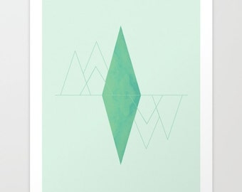 Mirror Geometric Print