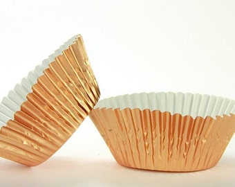 50pc Standard Size Brass Foil Baking Cup With Greaseproof Liner