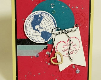 Home is Where the Heart Is Greeting Card Handmade Mother Father Son Daughter Friend Family Niece Nephew