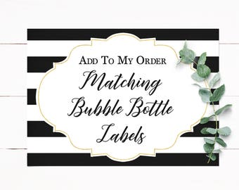 Matching Bubble Labels Customized to Match Your Invitation