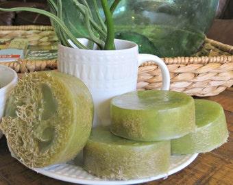 Artisan Soaps - Mens Soap - Homemade Soap Favors - Green Soap - Loofah Soap - Zen - Aromatherapy - Homemade Soap - Exfoliating Soap - Boho