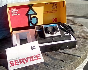 Kodak Instamatic X-15 color outfit camers in box