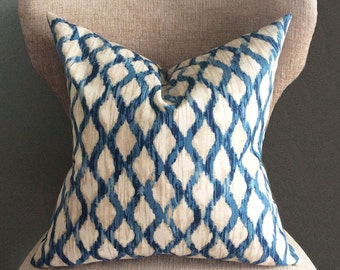 Blue Pillow Cover, cushion covers, Ikat pillow, throw pillow,  Handmade pillows, Throw pillow covers