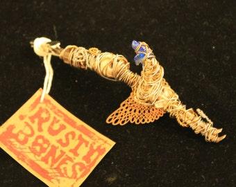 Dread Clip Smoking Clip OOAK Rusty Bones Skeleton Fairy Hair Clip
