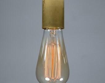 Brass Ceiling light Industrial Ceramic ceiling light, Antique Edison Bulb, Lamp, Rustic Lighting