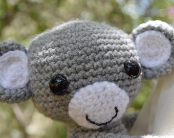 A Pair of Crochet Monkey Curtain Tie Backs, Nursery Decor, Jungle Theme Nursery, Curtain Tie Backs for kids room or nursery