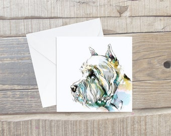 Westie Greeting Card with Envelope - West Highland Terrier - Westie Art - Square Card - Dog Card - Westie Birthday Card - Terrier Card