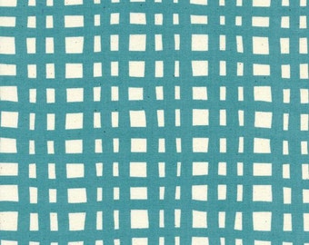 Yours Truly by Cotton and Steel - Going Steady Grid Teal - Cotton Woven Fabric