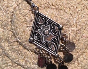 Sterling Silver Pendant-Flower Pendant-Handmade Vintage Pendant-Ethnic-Hippy- vintage Shop.....