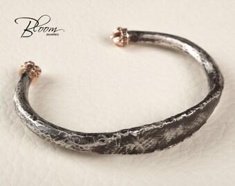 Mens Cuff Bracelet Oxidized Silver Cuff Bracelet for Men Rustic Cuff Bracelet Oxidized Cuff Bracelet Mens Rustic Bracelet Sterling Silver