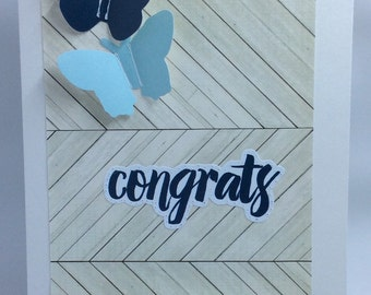 Congrats Butterfly Card