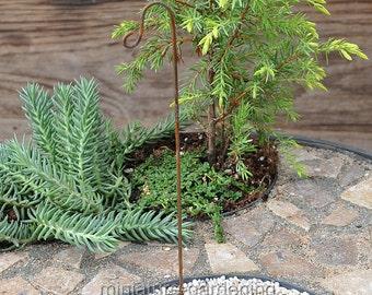 Scrolled Garden Hook for Miniature Garden, Fairy Garden