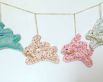 Easter decorations,Easter bunnies, Easter garland, Easter bunting, Easter decor,Personalised Easter bunnies,Polka dots bunnies,Easter banner