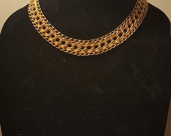 Vintage Gold Tone Necklace Chain Choker