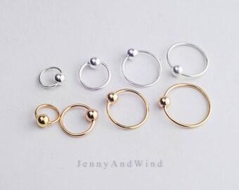 cartilage earring hoop cartilage hoop cartilage piercing helix earring hoop helix hoop helix piercing silver gold tiny mini 20g