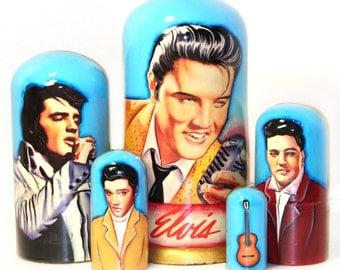 Nesting doll #514 Elvis Presley