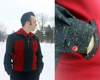 Ricky jacket reproduction, Two tone jacket, Flecked wool, Rockabilly jacket, Rockabilly menswear, Men's jacket, Men's coat by Oceanfront, S
