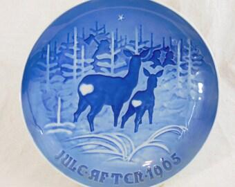 Copenhagen Porcelain, Christmas Porcelain Collector Plate, 1965 T Skoven for Jul