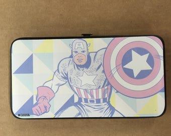 MARVEL COMICS Hinged Wallet - Art Deco Captain America Buckle-down USA