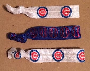 Chicago Cubs Elastic Hair Ties