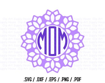 Mandala Circle Design Files, Use With Silhouette Software, DXF Files, SVG Font, EPS File, Svg Font, Silhouette Cameo, Cricut Design - CA407