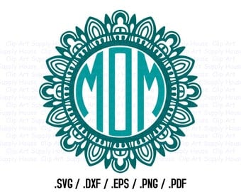 Mandala Circle Design Files, Use With Silhouette Software, DXF Files, SVG Font, EPS File, Svg Font, Silhouette Cameo, Cricut Design - CA409