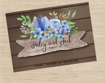 Save The Date Rustic Postcard - Rustic Save The Date